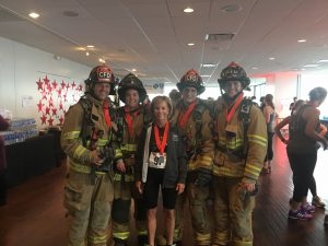 Royal United Mortgage LLC employee takes place in the fight for air climb, benefiting lung disease research.