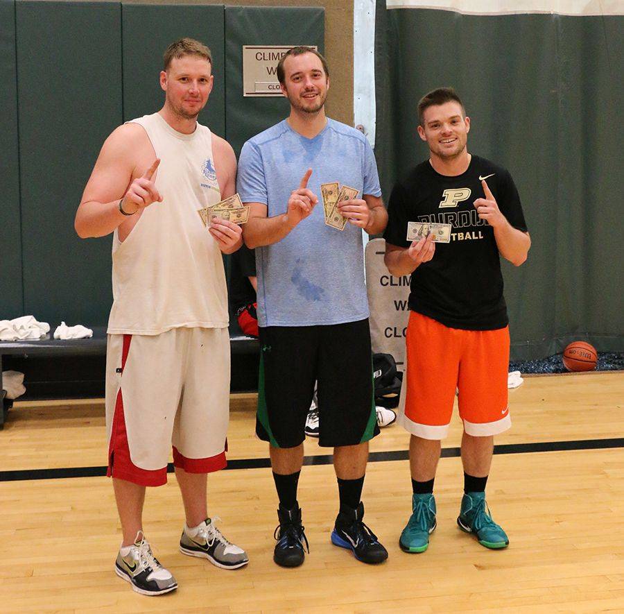 Indianapolis Royal United Mortgage office, 3 on 3 basketball champs.