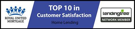 Royal United Mortgage LendingTree Top 10 in Customer Satisfaction